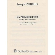 STRIMER J. MA PREMIERE PIECE VIOLONCELLE