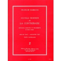 RABBATH F. NOUVELLE TECHNIQUE VOL 2 CONTREBASSE