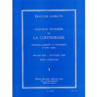 RABBATH F. NOUVELLE TECHNIQUE VOL 3 CONTREBASSE