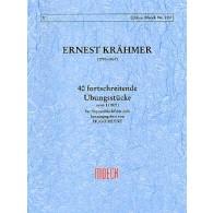 KRAHMER E. 40 FORTSCHREITENDE UBUNGSTUCKE FLUTE A BEC