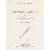 JOUBERT C.H. CHANSON DE COLIN HAUTBOIS
