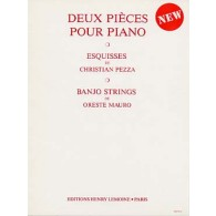 PEZZA C./MAURO O. ESQUISSES BANJO STRINGS PIANO
