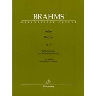 BRAHMS J. VALSES OP 39 PIANO FACILE