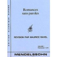 MENDELSSOHN F. ROMANCES SANS PAROLES VOL 1 PIANO