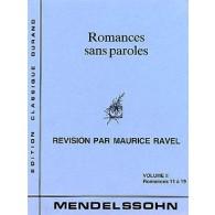 MENDELSSOHN F. ROMANCES PAROLES VOL 2 PIANO