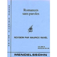 MENDELSSOHN F. ROMANCES SANS PAROLES VOL 3 PIANO