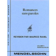 MENDELSSOHN F. ROMANCES SANS PAROLES VOL 4 PIANO