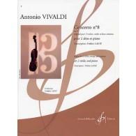 VIVALDI A. CONCERTO N°8 OP 3 2 ALTOS