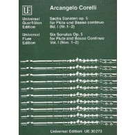 CORELLI A. SONATAS OP 5 VOL 1 FLUTE