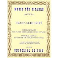 SCHUBERT F. ORIGINAL DANCES FLUTE GUITARE