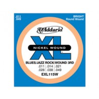JEU DE CORDES D'ADDARIO REGULAR BLUES-JAZZ-ROCK SOL FILE EXL115W