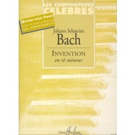 BACH J.S. INVENTION RE MINEUR PIANO