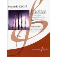 KLOSE H. DUO SUR DES MOTIFS DE LA SOMNAMBULE CLARINETTES