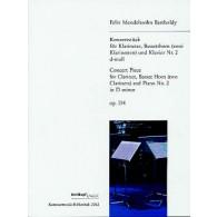 MENDELSSOHN F. KONZERSTUCK N°2 OP 114 CLARINETTES