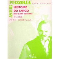 PIAZZOLLA A. HISTOIRE DU TANGO CLARINETTES