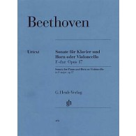 BEETHOVEN L. SONATE OP 17 COR