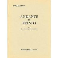 NOEL-GALLON ANDANTE ET PRESTO COR