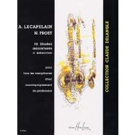 LECAPELAIN A./PROST N. 32 ETUDES MINIATURES SAXOPHONE