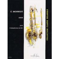 MONNIOT C. DUOS 2 SAXOPHONES MIB