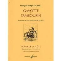 GOSSEC F.J. GAVOTTE ET TAMBOURIN FLUTE