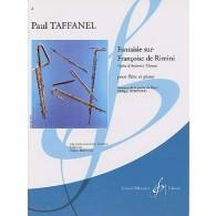 TAFFANEL P. FANTAISIE SUR FRANCOISE DE RIMINI FLUTE