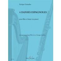 GRANADOS E. 4 DANSES ESPAGNOLES FLUTE ET HARPE