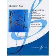 FOLZ M. CAPRICE-ETUDE DE CONCERT FLUTE PICCOLO