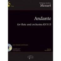 MOZART W.A. ANDANTE DO MAJEUR KV  315 FLUTE