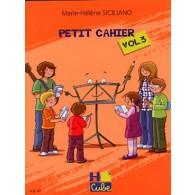 SICILIANO M.H. PETIT CAHIER VOL 3