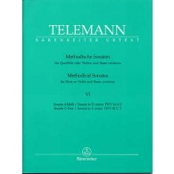 TELEMANN G.P. METHODICAL SONATAS VOL 6 FLUTE