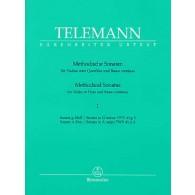 TELEMANN G.P. METHODICAL SONATAS VOL 1 FLUTE