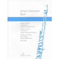 BACH J.S. SONATE G MOLL BWV 102 FLUTE