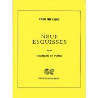 DUBOIS P.M. NEUF ESQUISSES HAUTBOIS