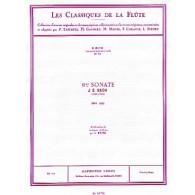 BACH J.S. SONATE N°6 BWV 1035 FLUTE