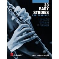 CRASBORN-MOOREN P. 33 EASY STUDIES CLARINETTE