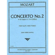 MOZART W.A. CONCERTO N°2 RE MAJEUR FLUTE