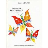 KABALEVSKI D. TABLEAUX DE L'ENFANCE PIANO