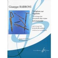 RABBONI G. VARIATIONS SUR RIGOLETTO FLUTES