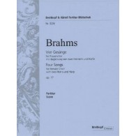 BRAHMS J. FOUR SONGS OP 17 FOR FEMALE