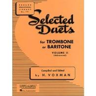 WOXMAN H. SELECTED DUETS VOL 2 TROMBONES