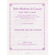 GALLOIS-MONTBRUN R. 5ME SOLO DE CONCERT VIOLON