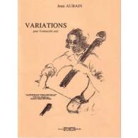 AUBAIN J. VARIATIONS VIOLONCELLE SOLO