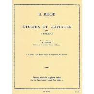 BROD H. ETUDES ET SONATES VOL 1 HAUTBOIS