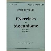 HAUCHARD M. EXERCICES DE MECANISME 2ME CAHIER VIOLON
