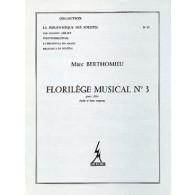 BERTHOMIEU M. FLORILEGE MUSICAL N°3 ALTO