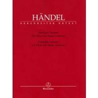 HAENDEL G.F. SONATES HAUTBOIS