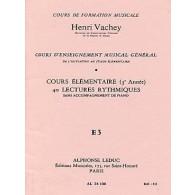 VACHEY H. 40 LECTURES RYTHMIQUES E3