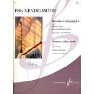 MENDELSSOHN F. ROMANCES SANS PAROLES OP 19 VOL 1 HAUTBOIS