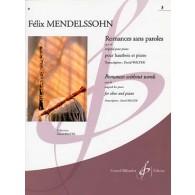 MENDELSSOHN F. ROMANCES SANS PAROLES OP 38 VOL 3 HAUTBOIS