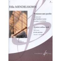 MENDELSSOHN F. ROMANCES SANS PAROLES OP 53 VOL 4 HAUTBOIS